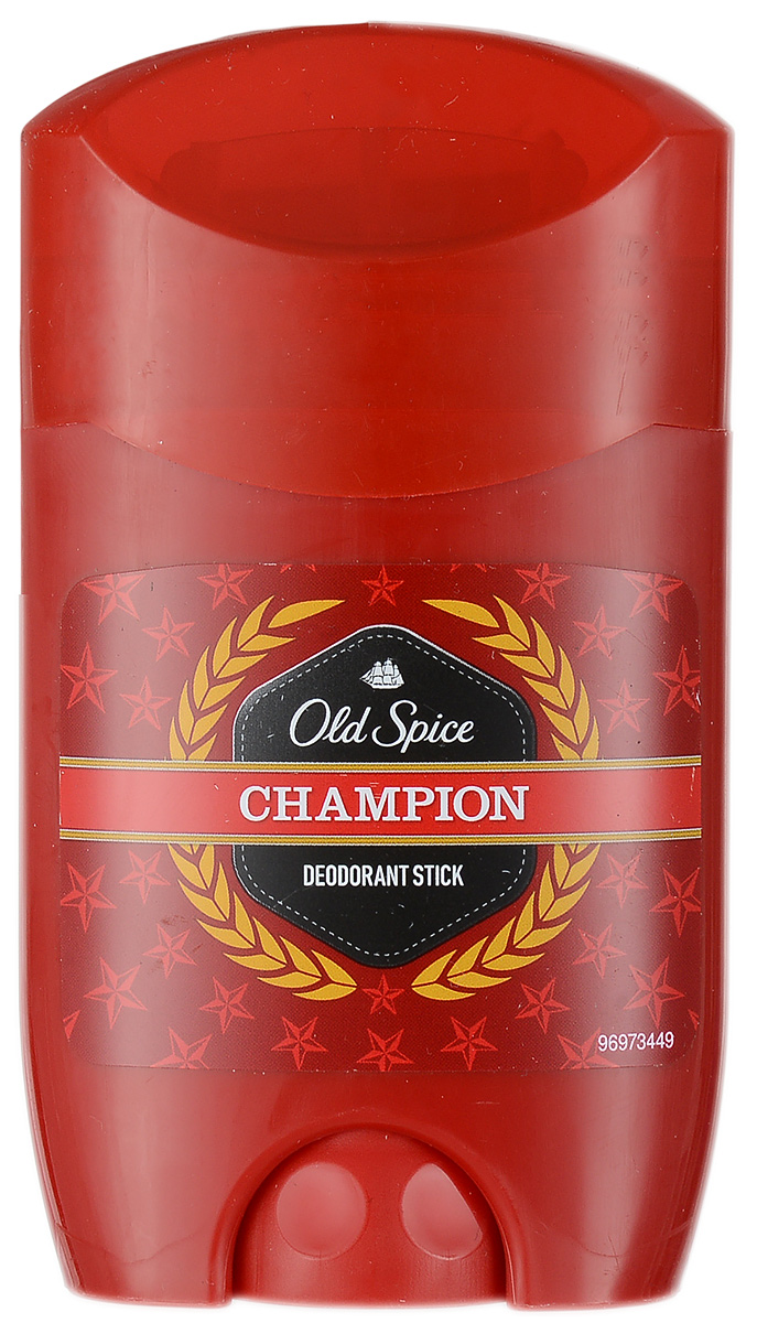Old Spice Дезодорант-стик Champion, 50 млOS-81321232Только для настоящих мужчин!Дезодорант Old Spice Champion для эффективного предотвращения запаха пота.Великолепный аромат и надежная защита. Характеристики:Объем: 50 мл. Производитель: Чехия. Товар сертифицирован.