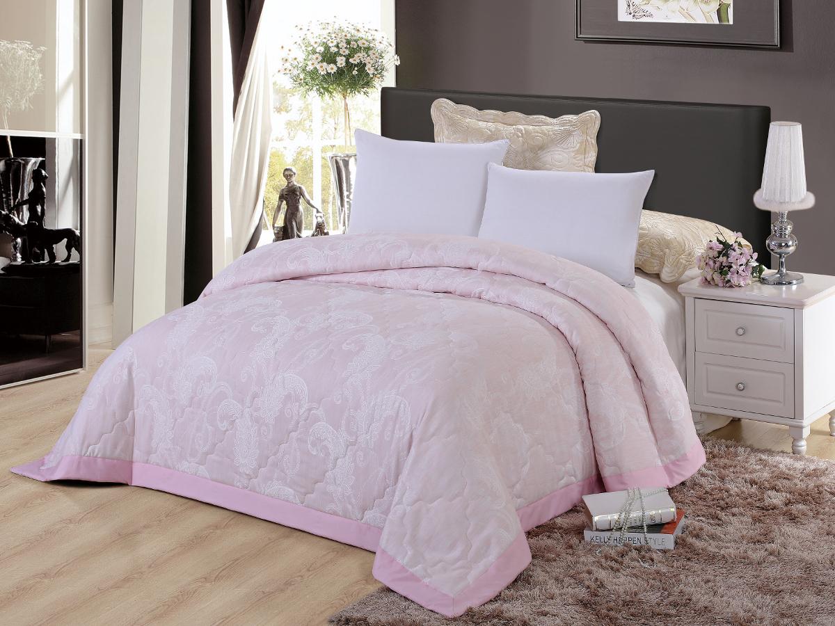 """Покрывало Cleo """"Виктория"""", жаккард, цвет: розовый, 220 х 240 см"""