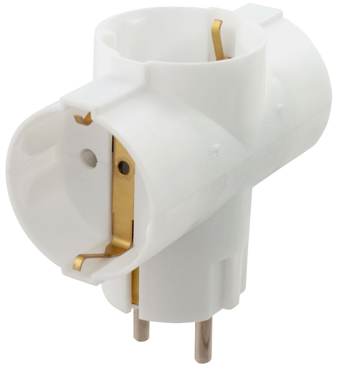 Адаптер сетевой Старт SA1/3-Z на 3 розетки05513Адаптер Старт SA1/3-Z с тремя гнездами изготовлен из негорючего РР-пластика. Корпус адаптера неразборный и обладает ударопрочными свойствами.Контакты заземления и электрические контакты выполнены из латуни, что предотвращает их ломкость. Заземление делает адаптер безопаснее и позволяет избежать коротких замыканий и поражения электрическим током.