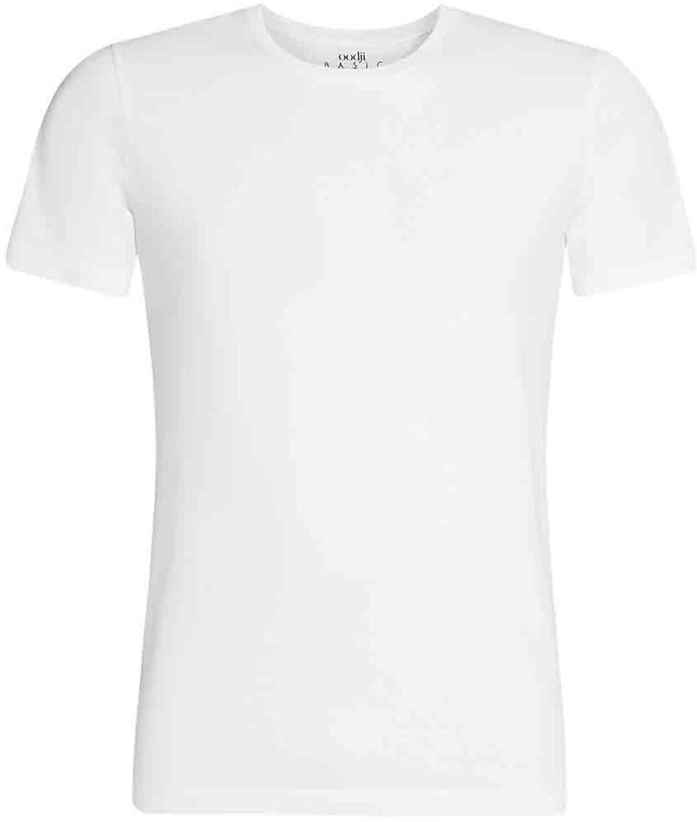 Футболка мужская oodji Basic, цвет: белый. 5B611003M/44135N/1000N. Размер XXL (58/60)5B611003M/44135N/1000NКомфортная мужская футболка от oodji с короткими рукавами и круглым вырезом горловины выполнена из натурального хлопка.