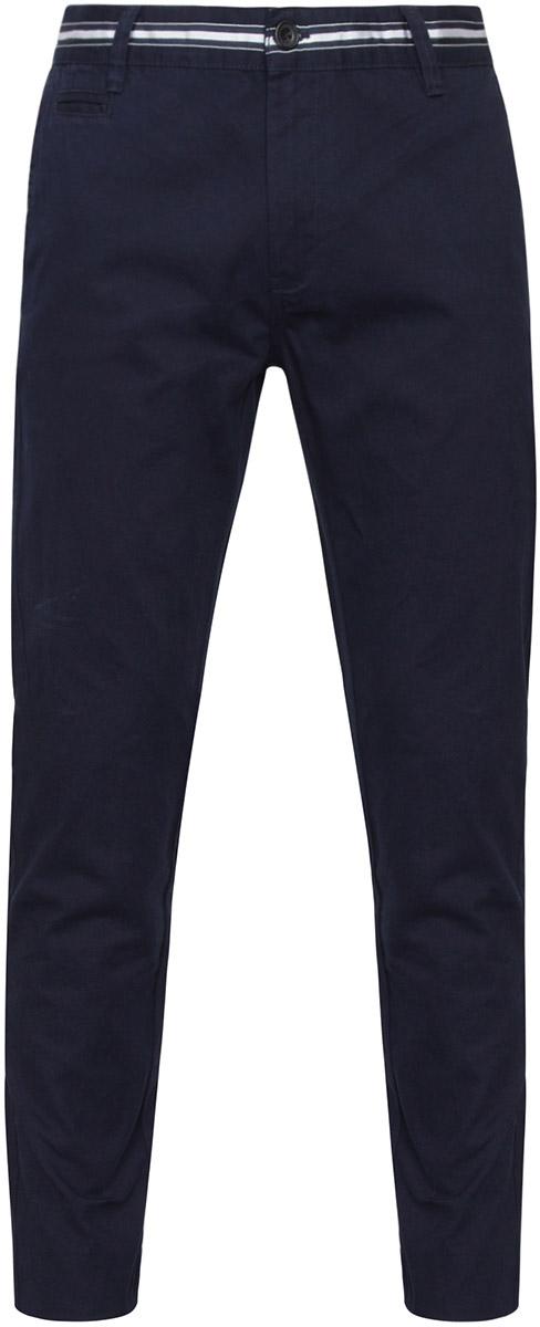 Брюки мужские oodji Lab, цвет: темно-синий. 2L150069M/25735N/7800N. Размер 40-182 (48-182)