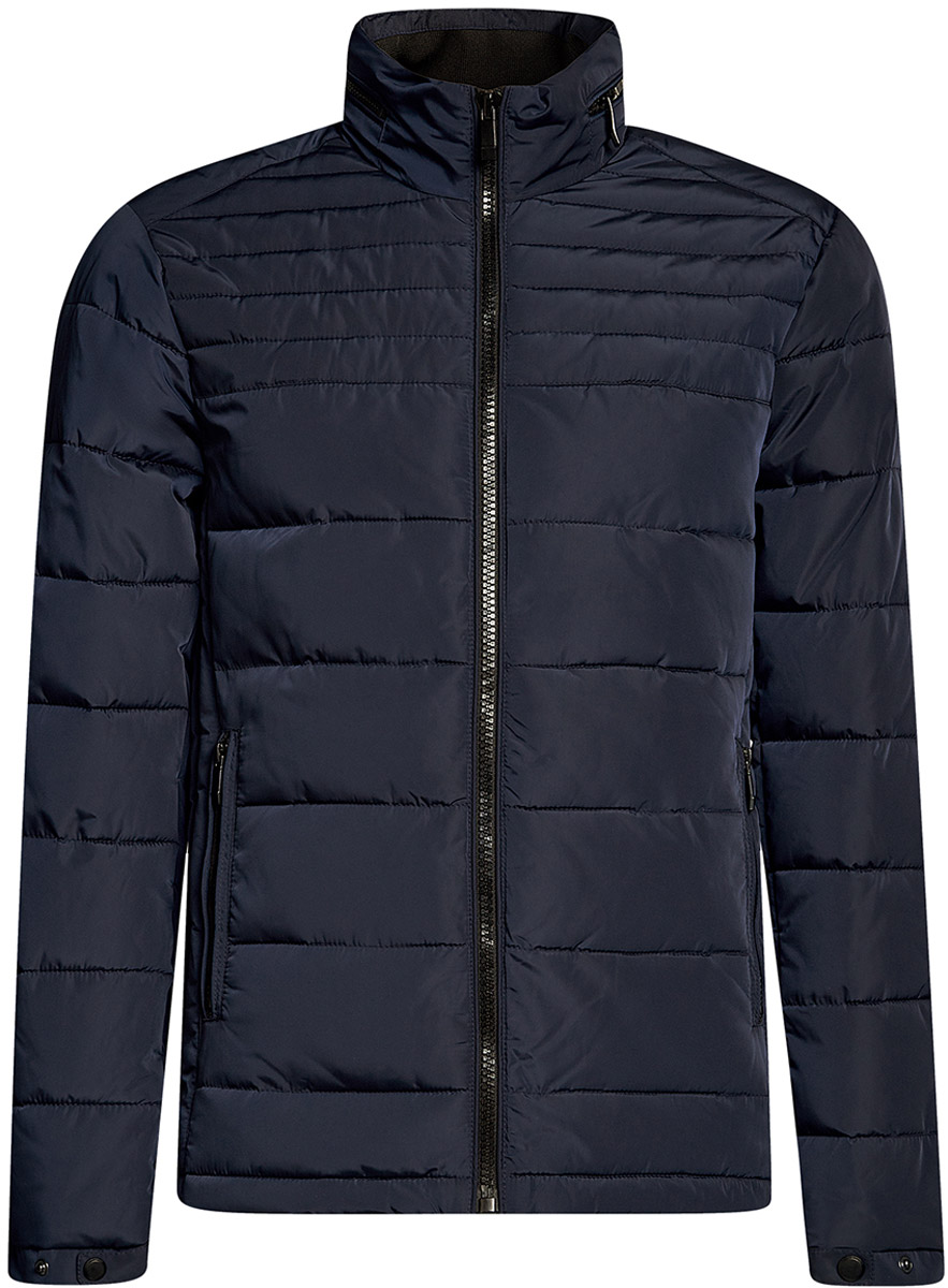 Куртка мужская oodji Basic, цвет: темно-синий. 1B111004M/44330N/7900N. Размер S-182 (46/48-182) куртка мужская oodji basic цвет темно синий 1b112008m 25278n 7900n размер m 50 182