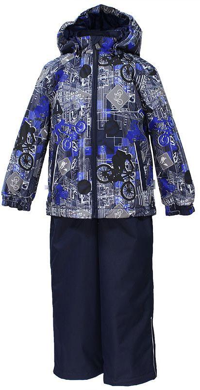 Комплект одежды для мальчика Huppa Yoko 1: куртка, брюки, цвет: темно-синий. 41190114-72286. Размер 15241190114-72286Комплект верхней одежды для мальчика Huppa Yoko выполнен из износостойкого полиэстера и состоит из куртки и брюк. В качестве подкладки и утеплителя используется качественный полиэстер. Брюки застегиваются на молнию и металлическую кнопку. Изделие дополнено съемными резиновыми подтяжками, длину которых можно регулировать. На талии имеется вшитая эластичная резинка. Снизу брючин предусмотрены шнурки-утяжки со стопперами. Куртка со съемным капюшоном и воротником-стойкой застегивается на пластиковую молнию. Капюшон пристегивается при помощи металлических кнопок. Манжеты рукавов собраны на внутренние резинки, низ куртки оснащен эластичным шнурком. Спереди модель дополнена двумя врезными карманами.Комплект оснащен светоотражающими элементами.