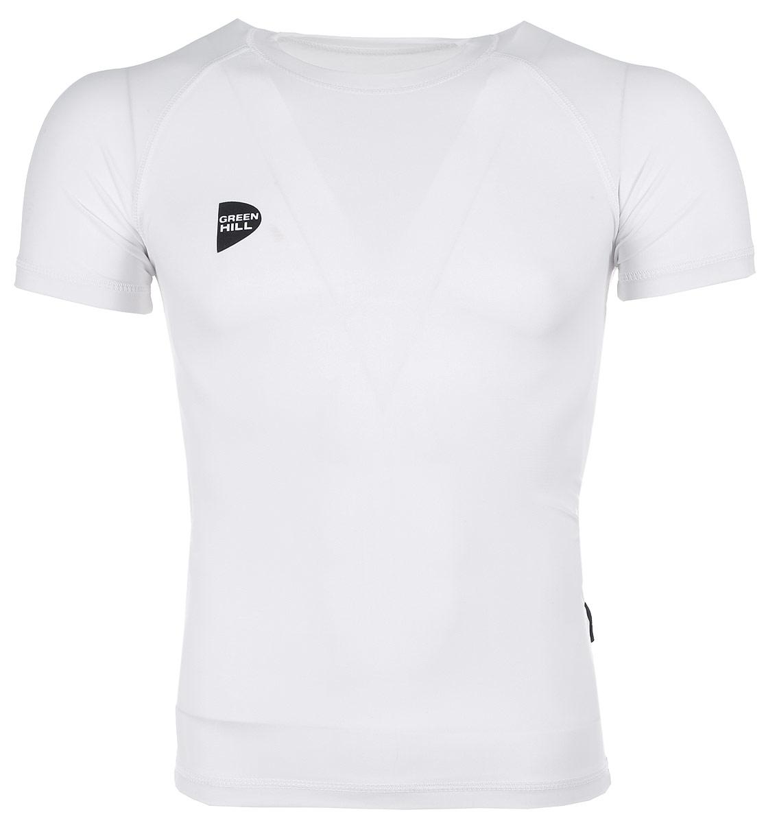 Защитная футболка Green Hill, с коротким рукавом, цвет: белый. Размер XXL. RGS-3558RGS-3558Защитная футболка с коротким рукавом Green Hill выполнена из полиэстера и лайкры. На ней изображен логотип дзюдо. Размеры: длина 74 см, ширина 47 см.