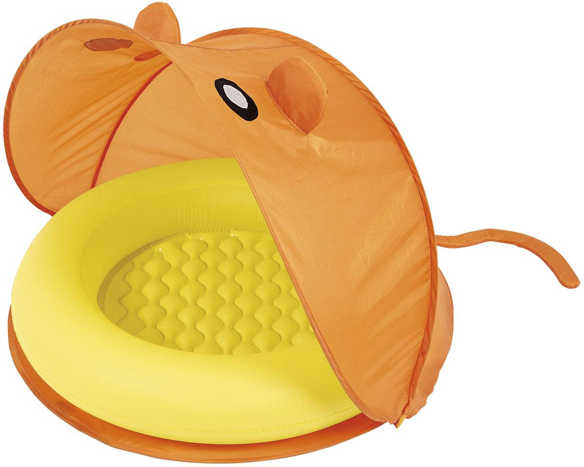 Bestway Надувной бассейн со складным тентом от солнца. Оранжевый/желтый.