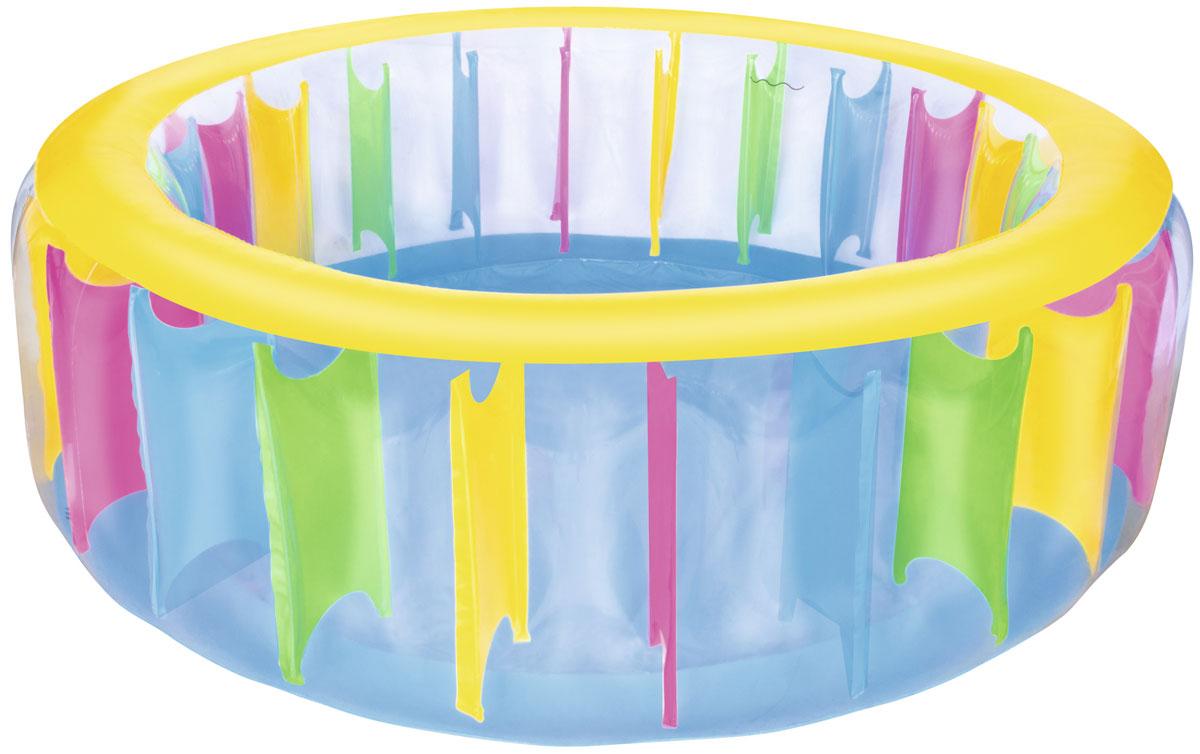 Bestway Надувной бассейн Разноцветный51038Бассейн надувной для детей от 6 лет. Размер 183*61 см. Объем 775 л. Изготовлено из полимерных материалов (винил). Простой в использовании дренажный клапан и слив воды.
