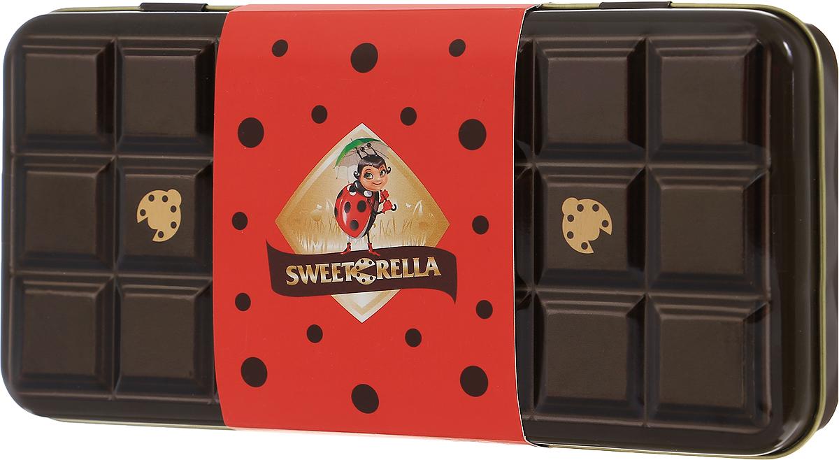 Sweeterella молочный шоколад с хрустящими шариками шоколадный пенал, 110 г sweeterella печенье американер ассорти 400 г