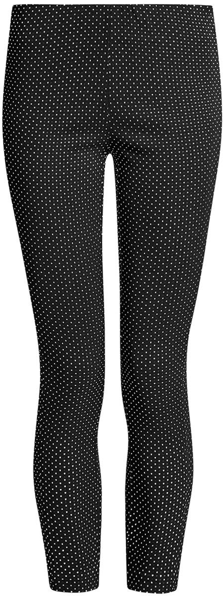 Брюки женские oodji Ultra, цвет: черный, белый. 11707116-2/46528/2912D. Размер 38-170 (44-170)11707116-2/46528/2912DБриджи oodji Ultra выполнены из высококачественного материала. Облегающая модель стандартной посадки.