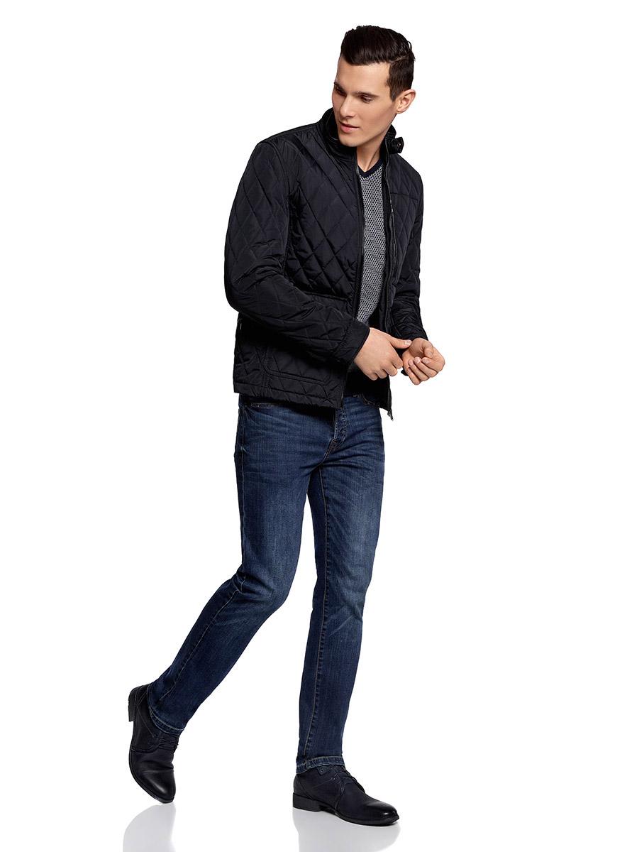 Куртка мужская oodji Lab, цвет: темно-синий. 1L111020M/44330N/7900N. Размер L-182 (52/54-182) футболка мужская oodji lab цвет темно синий 5l611395m 47601n 7912p размер l 52 54