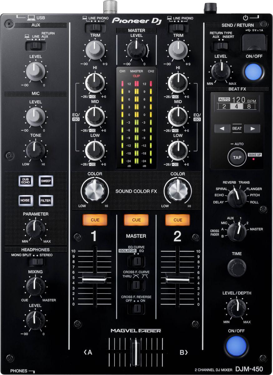 Pioneer DJM-450 микшерный пульт среднего уровня - DJ-оборудование