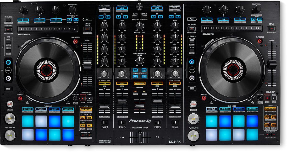 Pioneer DDJ-RX DJ контроллер для профессиональных диджеев midi dj контроллер pioneer ddj rz