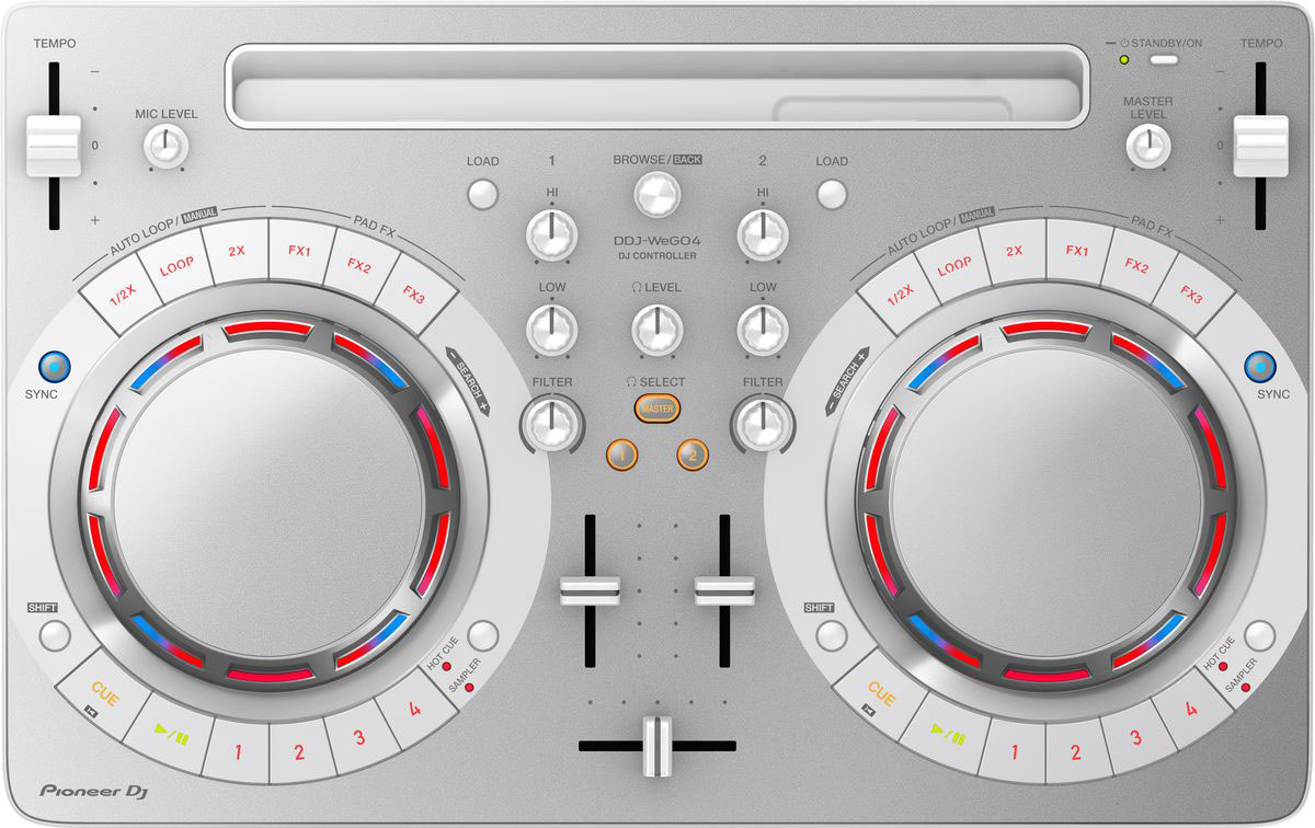 Pioneer DDJ-WEGO4-W DJ контроллер для начинающих pioneer ddj wego4 w