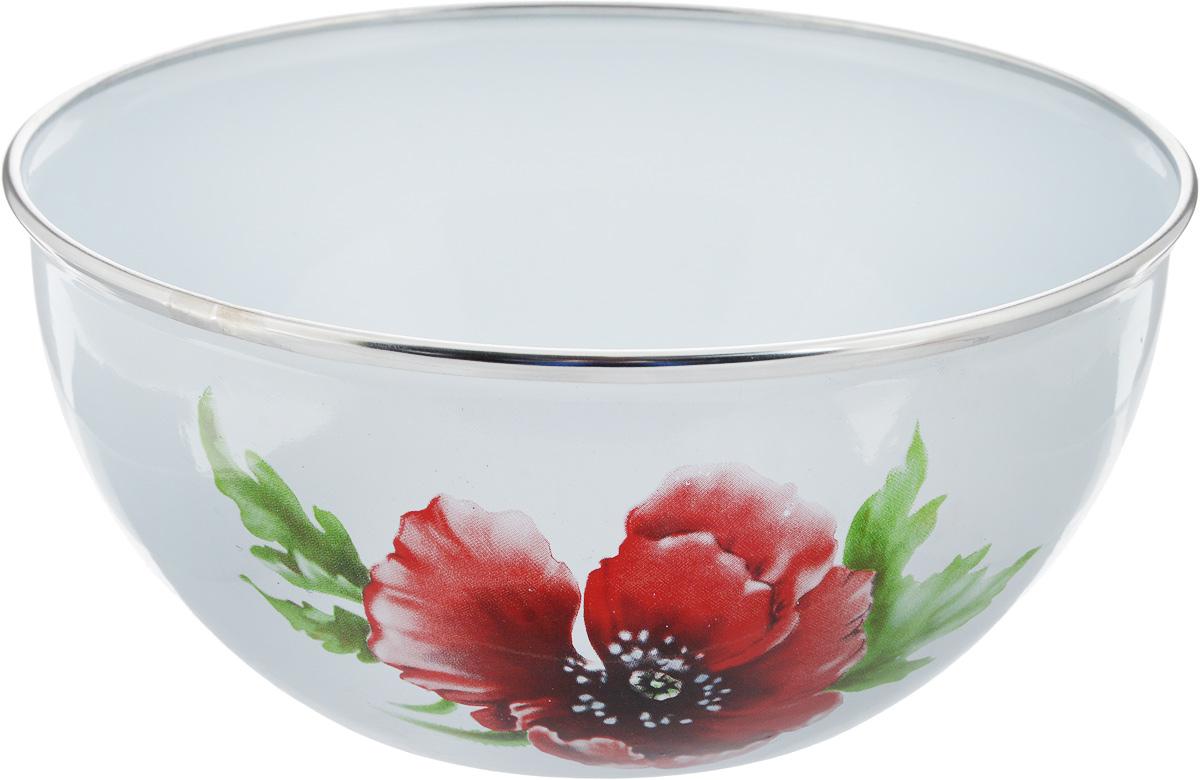 Миска Рубин Маковый цветок, 2 лBW04/20/03/04-1Миска Рубин Маковый цветок изготовлена из высококачественной стали с эмалированным покрытием. Удобная посуда прекрасно подойдет для походов и пикников. Прочная, компактная миска легко моется. Отлично подойдет для горячих блюд.