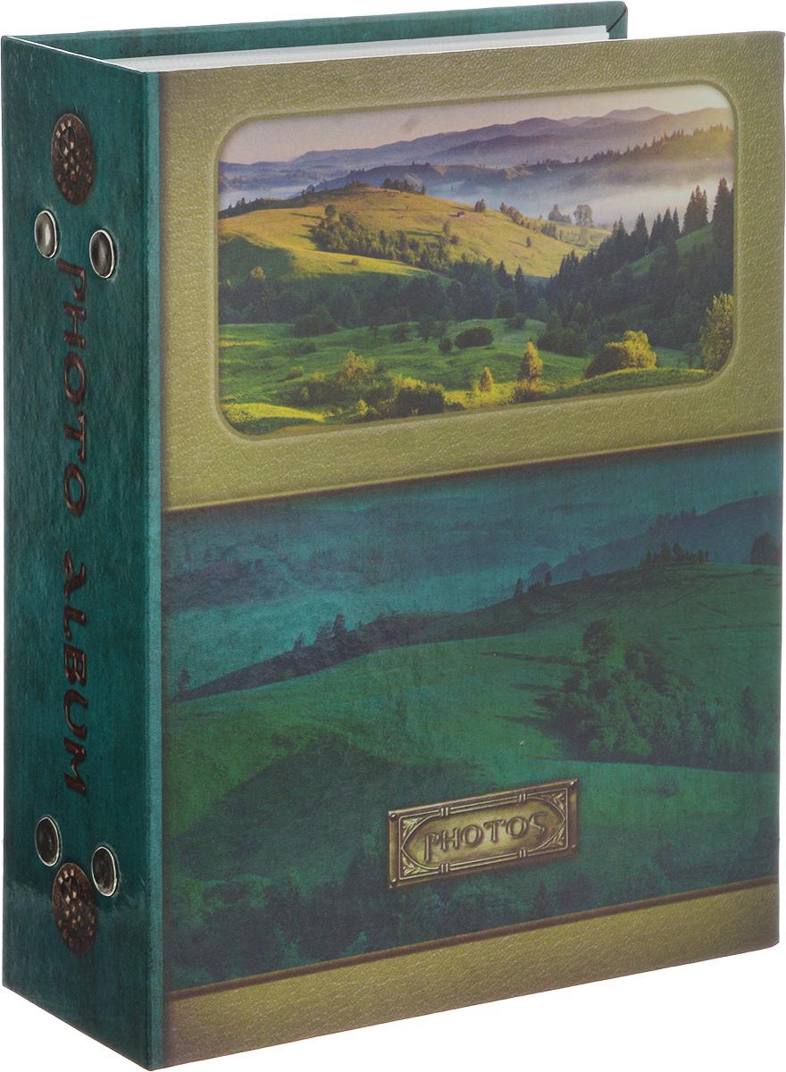 Фотоальбом Pioneer Landscape, 100 фотографий, 10 х 15 см46365 PP-46100_зеленыйФотоальбом Pioneer Landscape поможет красиво оформить ваши самые интересные фотографии. Обложка, выполненная из толстого картона, оформлена ярким изображением. Внутри содержится блок из 50 белых листов с фиксаторами-окошками из полипропилена. Альбом рассчитан на 100 фотографий формата 10 х 15 см (по 1 фотографии на странице). Переплет - книжный. Нам всегда так приятно вспоминать о самых счастливых моментах жизни, запечатленных на фотографиях. Поэтому фотоальбом является универсальным подарком к любому празднику.Количество листов: 50.