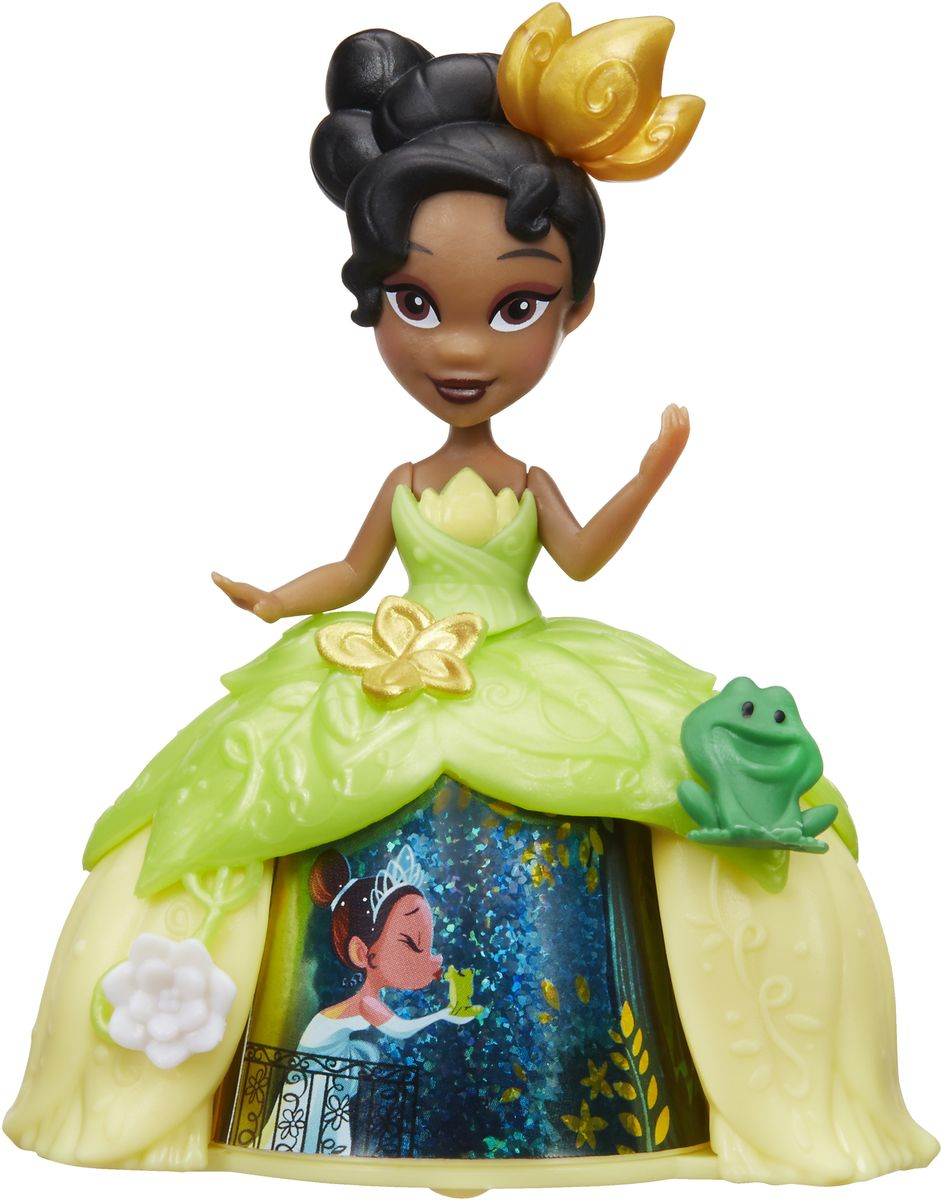 Disney Princess Мини-кукла Тиана в платье с волшебной юбкой disney princess мини кукла тиана цвет платья светло зеленый