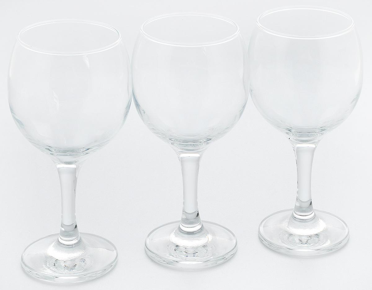 Набор бокалов Pasabahce Bistro, 290 мл, 3 шт44411B//Набор Pasabahce Bistro состоит из трех бокалов,выполненных из прочного натрий-кальций- силикатного стекла. Бокалы предназначены для подачивина, сока и других напитков. Они сочетают в себеэлегантный дизайн и функциональность. Набор бокалов Pasabahce Bistro прекрасно оформитпраздничный стол и создаст приятную атмосферу заромантическим ужином. Также он станет хорошимподарком клюбому случаю.Можно мыть в посудомоечной машине. Диаметр бокала по верхнему краю: 6,5 см.Высота бокала: 16 см.
