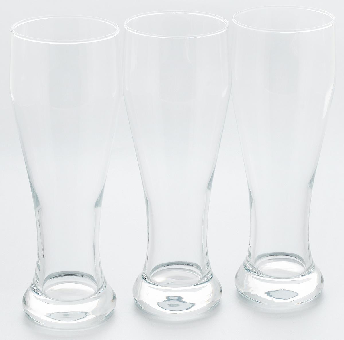 Набор стаканов для пива Pasabahce Pub, 665 мл, 3 шт