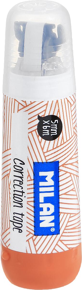 Milan Корректирующая лента цвет оранжевый 5 х 6 мм1301000_оранжевыйЛента Milan корректирует быстро, чисто и точно.Подходит для всех типов бумаг. Размер 5 мм на 6 м.