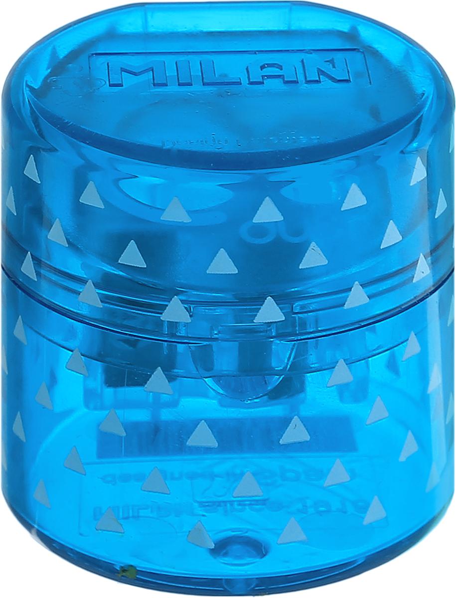 Milan Точилка Duet с контейнером цвет синий20155212_синийУдобная точилка с контейнером Milan Duet оснащена безопасной системой заточки.Эта система предотвращает отделение лезвия от точилки. Идеально подходит для использования в школах. Стальное лезвие острое и устойчиво к повреждению. Идеально подходит для заточки графитовых и цветных карандашей