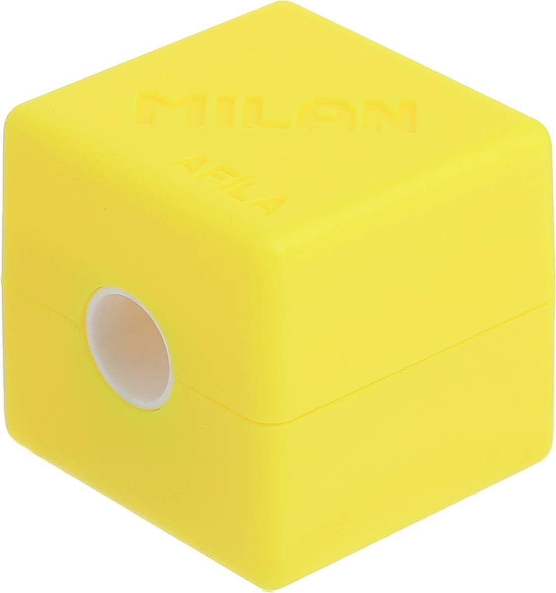 Milan Точилка Cubic с контейнером цвет желтый