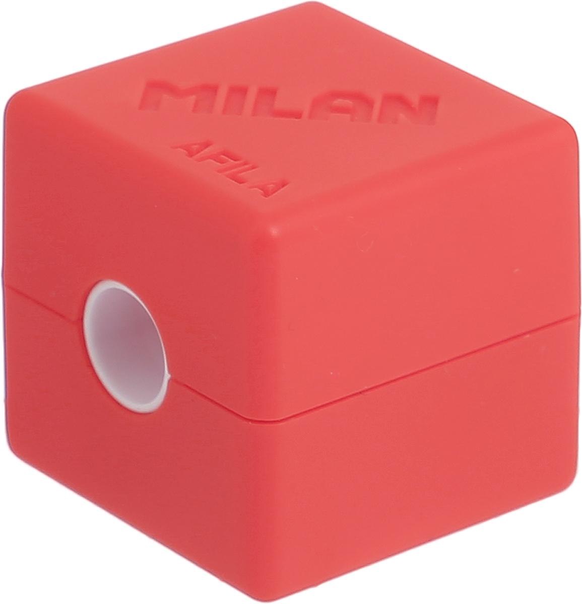 Milan Точилка Cubic с контейнером цвет оранжевый точилка пластиковая maped stop signal одно отверстие с контейнером