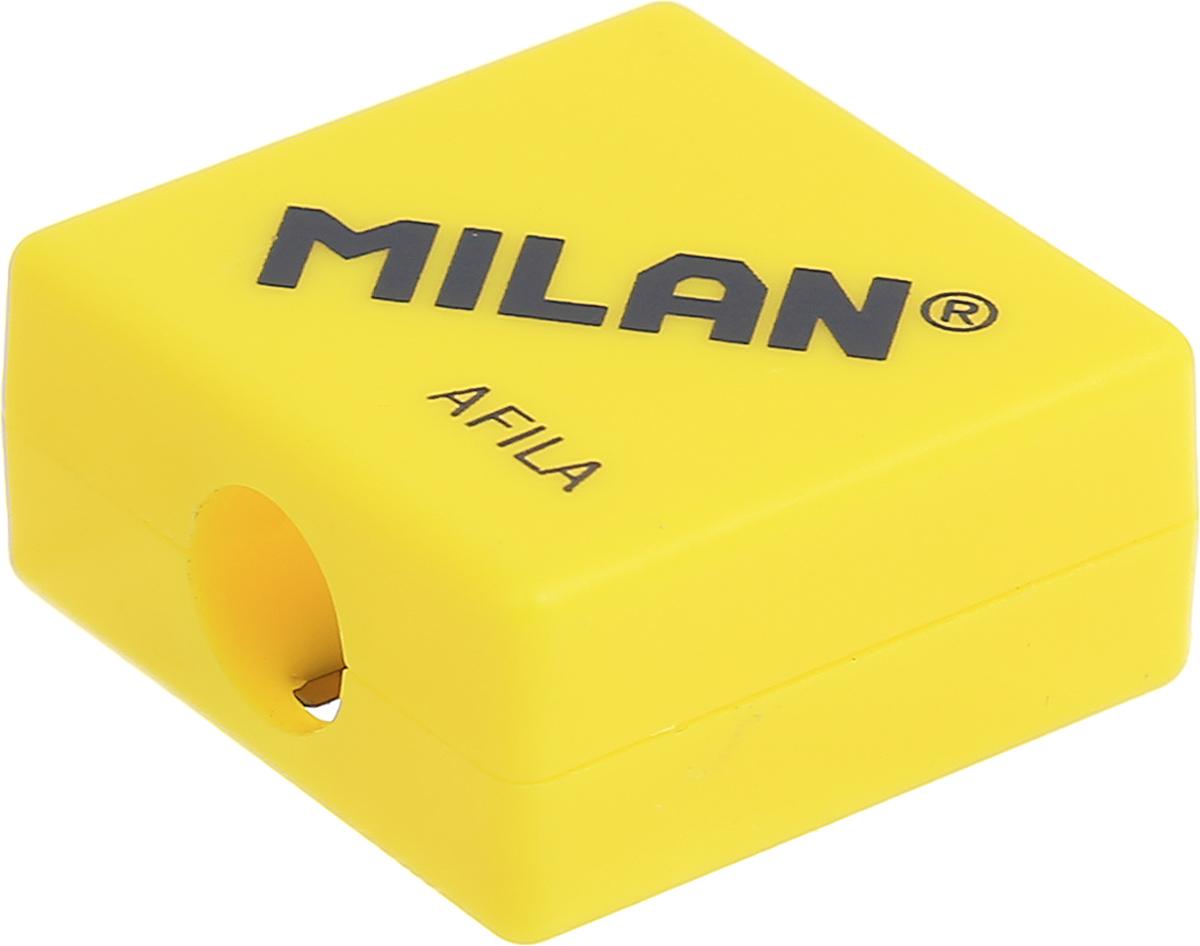 Milan Точилка Afila цвет желтый20140932_желтыйКомпактная точилка Milan Afila оснащена безопасной системой заточки.Эта система предотвращает отделение лезвия от точилки. Идеально подходит для использования в школах. Стальное лезвие острое и устойчиво к повреждению. Идеально подходит для заточки графитовых и цветных карандашей