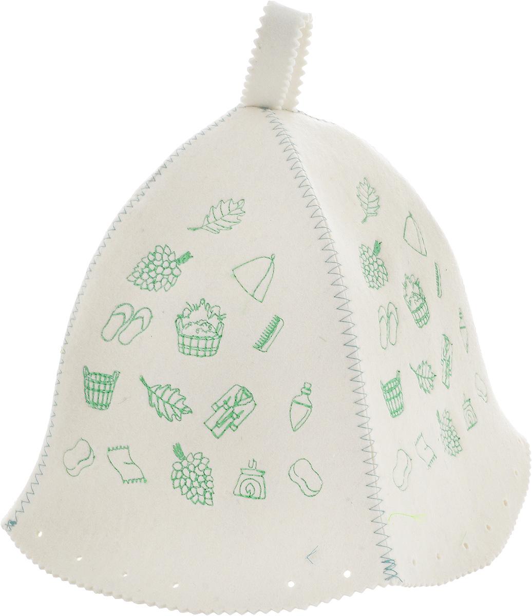 Шапка для бани и сауны Доктор Баня Классическая. Полоска шапка для бани и сауны доктор баня классическая кант