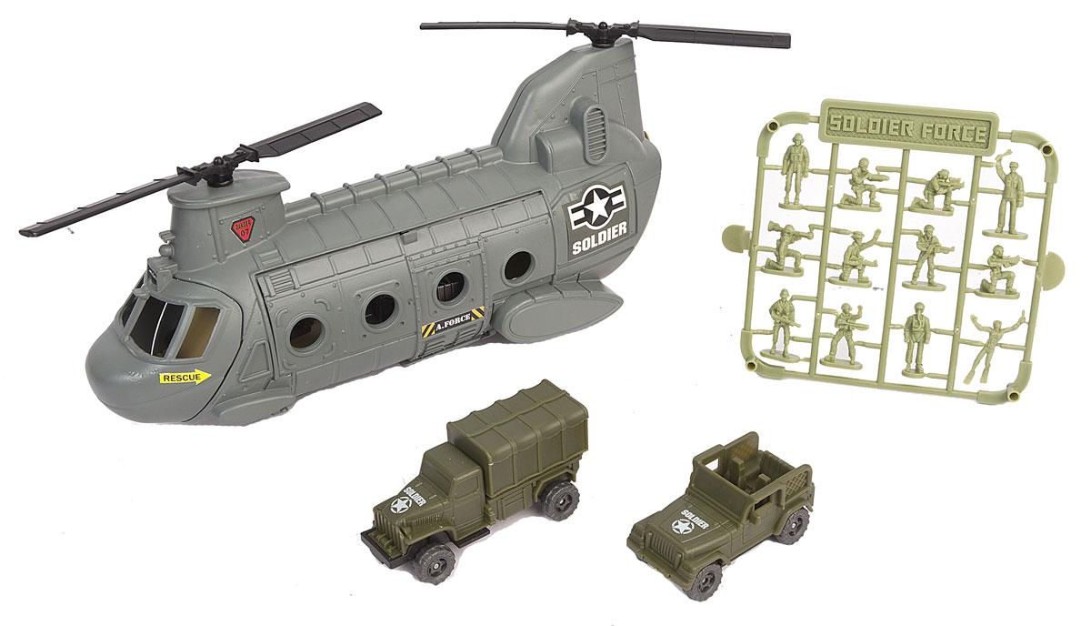 Chap Mei Игровой набор Нано-армия Вертолет солдатики вов купить