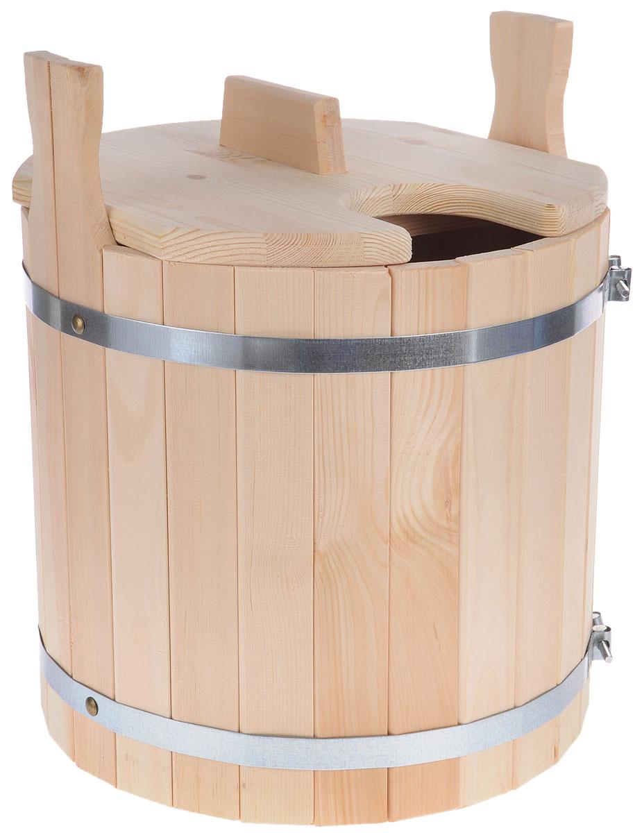Запарник для бани Доктор Баня, с крышкой, 25 л8326Запарник Доктор Баня, изготовленный из кедра, доставит вам настоящее удовольствие от банной процедуры. При запаривании веник обретает свою природную силу и сохраняет полезные свойства. Корпус запарника состоит из металлических обручей стянутых клепками. Для более удобного использования запарник имеет по бокам две ручки и крышку.Высота запарника (с учетом ручек): 43 см.Диаметр запарника: 36 см. Объем: 25 л.