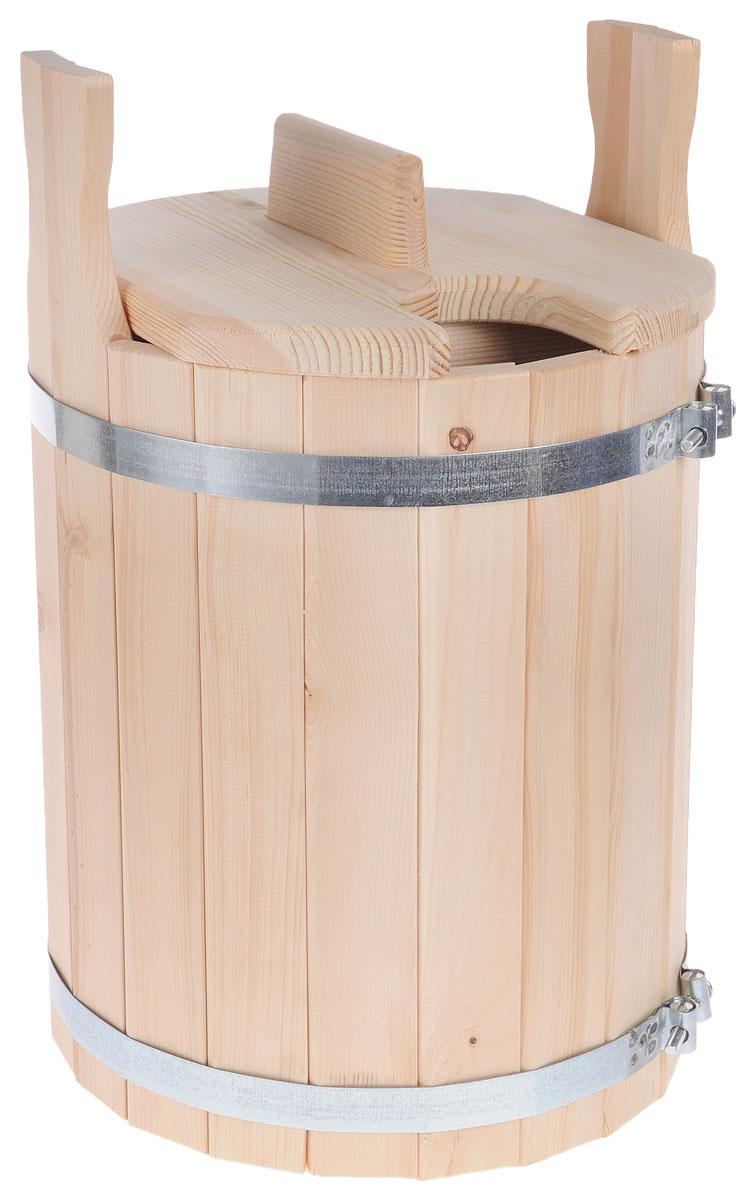 Запарник для бани Доктор Баня, с крышкой, 11 л905171Запарник Доктор Баня, изготовленный из кедра, доставит вам настоящее удовольствие от банной процедуры. При запаривании веник обретает свою природную силу и сохраняет полезные свойства. Корпус запарника состоит из металлических обручей стянутых клепками. Для более удобного использования запарник имеет по бокам две ручки и крышку.Высота запарника (с учетом ручек): 43 см.Диаметр запарника: 28 см. Объем: 11 л.
