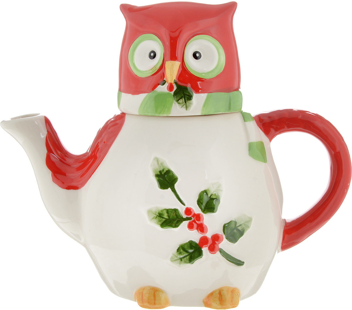 Чайник заварочный House & Holder Сова, цвет: белый, красный, 610 мл2800133Заварочный чайник House & Holder Сова выполнен извысококачественной керамики и покрыт сверкающей глазурью.Изделие оформлено ярким рисунком и оснащено крышкой.Заварочный чайник House & Holder Сова придется повкусу и ценителям классики, и тем, кто предпочитаетутонченность и изысканность. Диаметр (по верхнему краю): 6 см.Высота чайника (без учета крышки): 10,5 см. Высота чайника (с учетом крышки): 17 см.