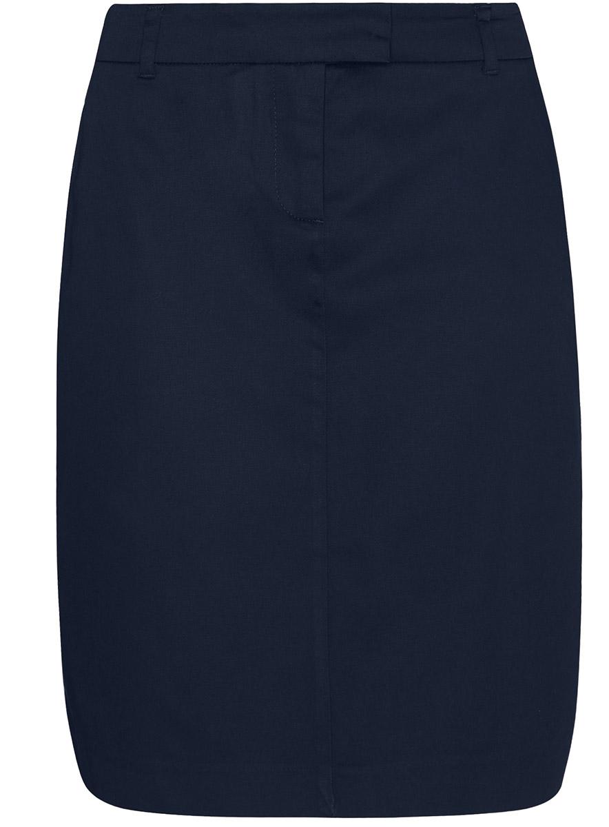 Юбка oodji Collection, цвет: темно-синий. 21601275-1/14522/7900N. Размер 38 (44-170) юбка oodji collection цвет черный карамельный 21600297 1 43561 294bl размер 38 44 170