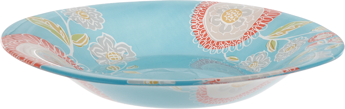 Тарелка суповая Luminarc Silene Glass, 20,5 х 20,5 смJ7828Суповая тарелка Luminarc Silene Glass выполнена из ударопрочного стекла и украшена изображением цветов. Изделие сочетает в себеизысканный дизайн с максимальной функциональностью. Она прекрасно впишется в интерьер вашей кухни и станет достойным дополнением к кухонному инвентарю. Тарелка Luminarc Silene Glass подчеркнет прекрасный вкус хозяйки и станет отличным подарком. Размер тарелки: 20,5 х 20,5 см.Высота тарелки: 3 см.