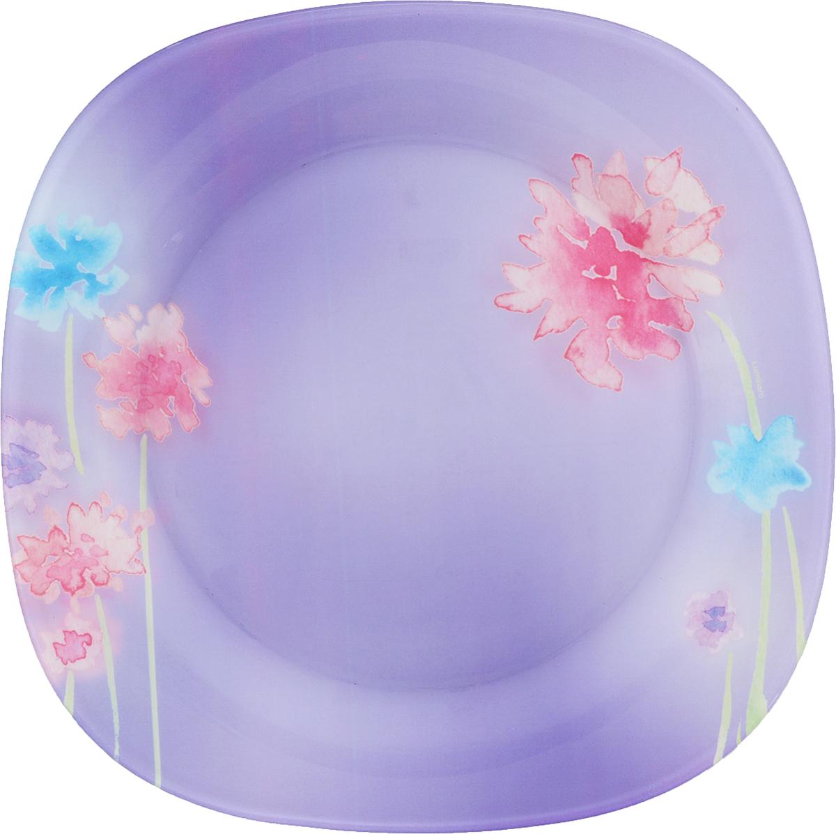 Тарелка обеденная Luminarc Angel Purple, 25 х 25 смJ1753Обеденная тарелка Luminarc Angel Purple изготовлена из высококачественного стекла. Изделие сочетает в себе изысканный дизайн с максимальной функциональностью. Тарелка прекрасно впишется в интерьер вашей кухни и станет достойным дополнением к кухонному инвентарю. Такое изделие не только украсит ваш кухонный стол и подчеркнет прекрасный вкус хозяйки, но истанет отличным подарком.Размер тарелки: 25 х 25 см.Высота тарелки: 1,5 см.