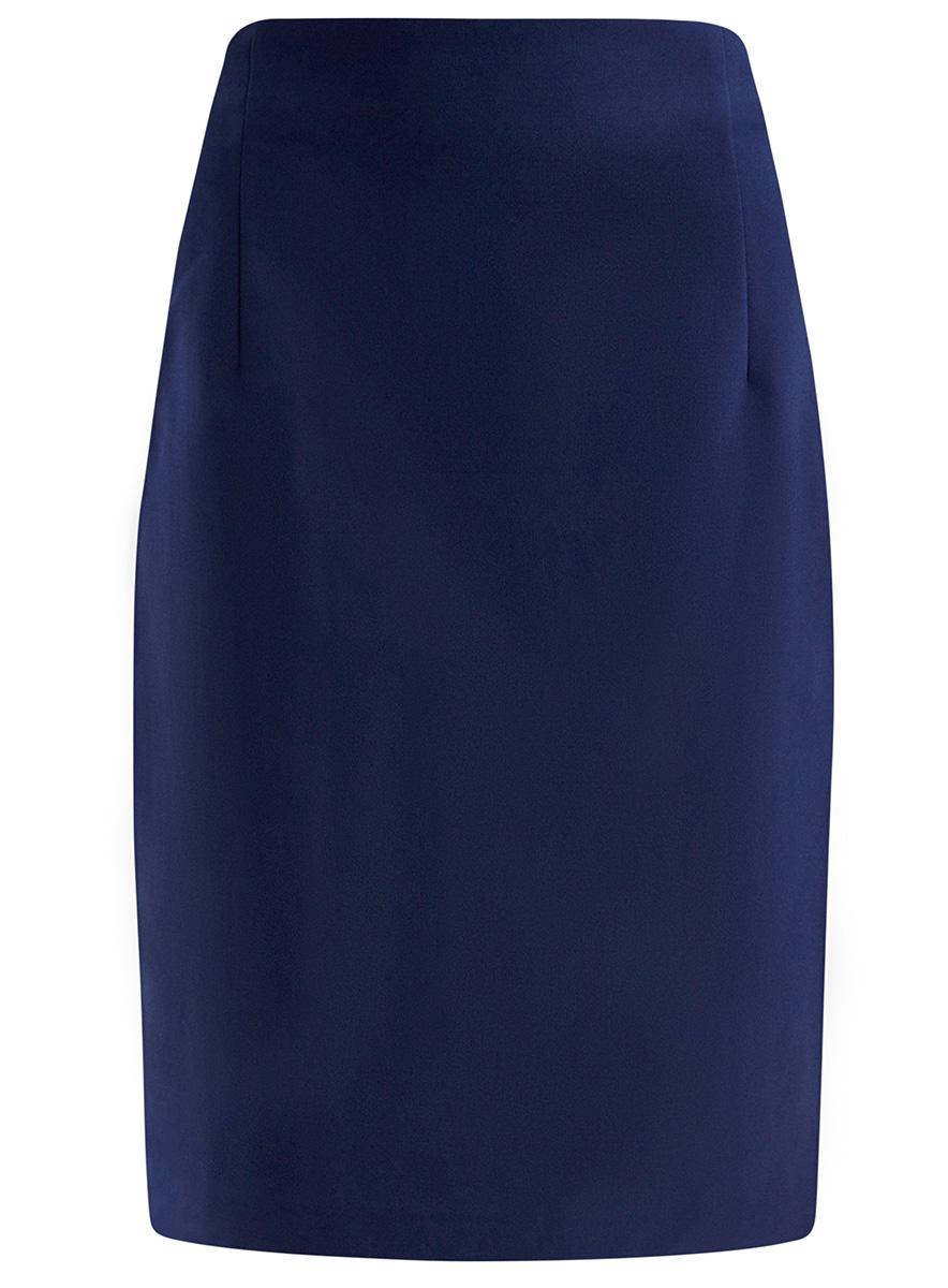 Юбка oodji Collection, цвет: темно-синий. 21601295/33574/7900N. Размер 36 (42-170) пуловеры oodji пуловер