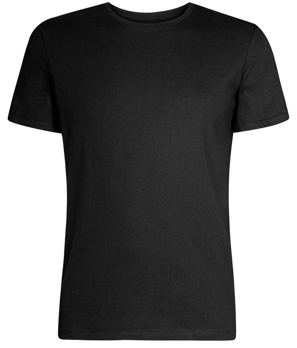 Футболка мужская oodji Basic, цвет: черный. 5B611003M/44135N/2900N. Размер XS (44) майка мужская oodji basic цвет черный 5b710002m 44260n 2900n размер xs 44