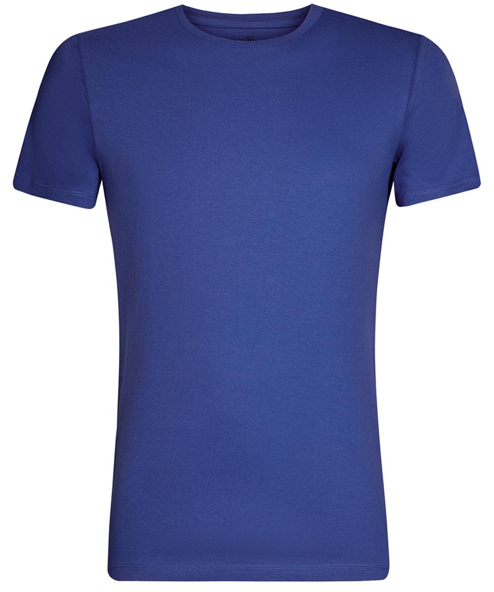 Футболка мужская oodji Basic, цвет: синий. 5B611003M/44135N/7500N. Размер M (50)5B611003M/44135N/7500NКомфортная мужская футболка от oodji с короткими рукавами и круглым вырезом горловины выполнена из натурального хлопка.