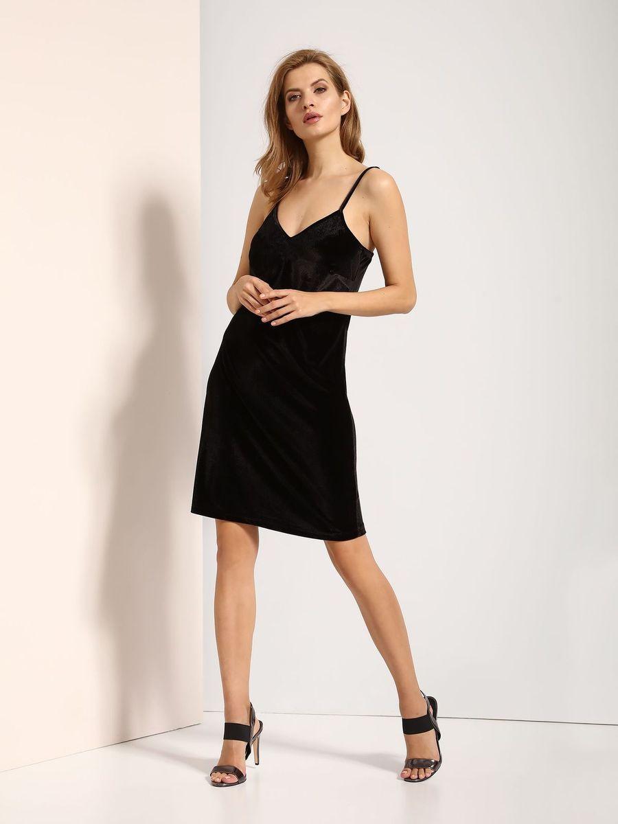 Платье Top Secret, цвет: черный. SSU1771CA. Размер 40 (48)SSU1771CAПлатье Top Secret выполнено из полиэстера и эластана. Модель на бретельках.