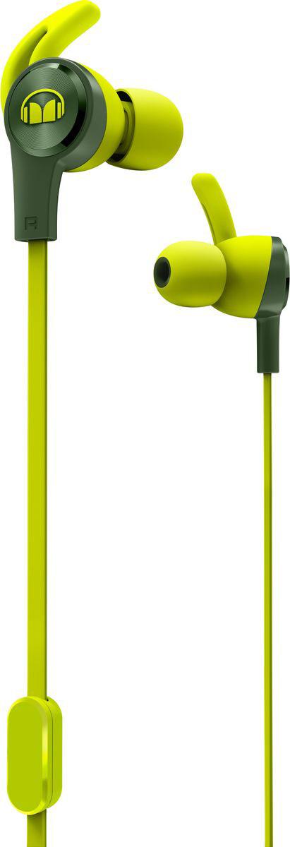 Monster iSport Achieve, Green наушники137091-00Вставные спортивные наушники iSport Achieve с запатентованными технологиями Monster - лучшие в своем ценовом сегменте.Эксклюзивное крепление SecureFit от Monster позволяет наушникам оставаться на месте в течении самой подвижной тренировки в тренажерном зале. Высокая шумоизоляция позволит сосредоточиться на треках, а покрытие с защитой от пота добиться наибольшей интенсивности тренировок с максимальным комфортом.