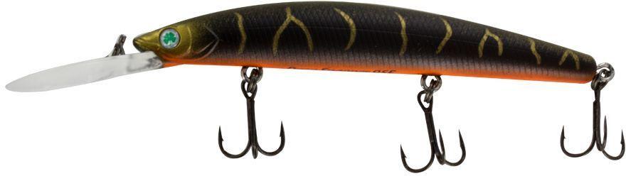 Воблер Yoshi Onyx Deep Snapper-95 F-DR, цвет: коричневый, золотой, 9,1 г75201Воблер Yoshi Onyx Deep Snapper-95 F-DR способен буквально за два-три рывкадостигнуть глубины 2,5 метра, что позволит эффективно обловить глубокие, но короткие прибрежные канавки. Отзывчив на анимацию и способен соблазнить практически любую хищную рыбу.Заглубление: 2-4 м.