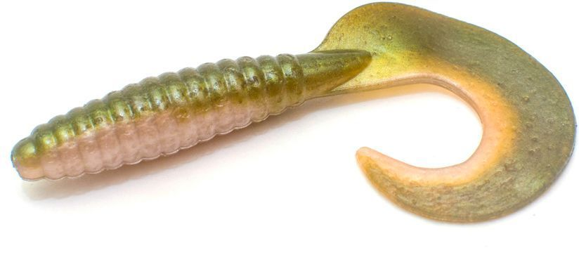 Приманка Yoshi Onyx Tickle Tail. LW04, съедобная, силиконовая, 65 мм, 10 шт