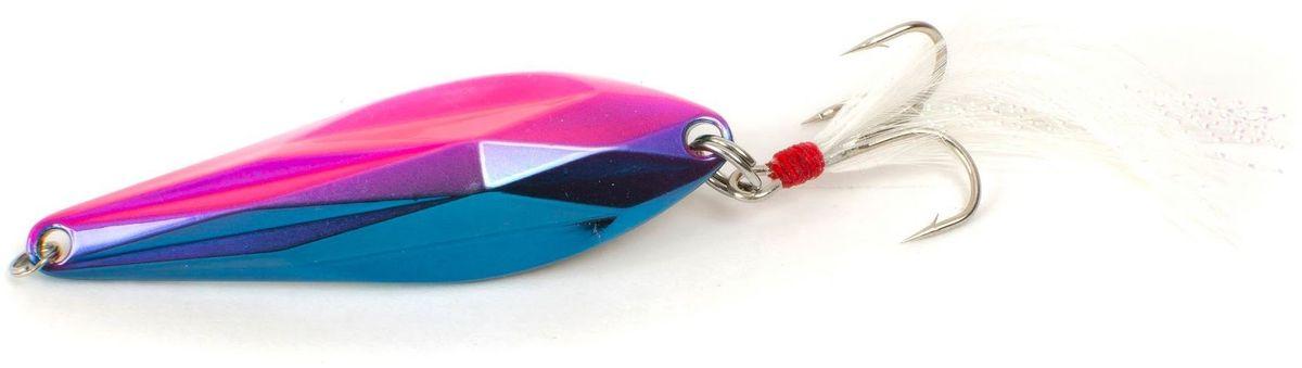 Блесна Yoshi Onyx Yalu Gem, цвет: синий, розовый, 21 г95713Yoshi Onyx Yalu Gem - это незаурядная блесна со сложной геометрией. Она компактная, тяжелая и невероятно дальнобойная, летит как пуля. Идеальное соотношение веса и площади, наряду с аккуратно выверенным центром тяжести, позволяет осуществлять результативные проводки в самом широком диапазоне скоростей и глубин. Тщательно рассчитанные грани и смещенный центр тяжести блесны позволяют эффективно облавливать не только удаленные уголки водоема, но и результативно работать в придонных слоях глубоких ям.Какая приманка для спиннинга лучше. Статья OZON Гид