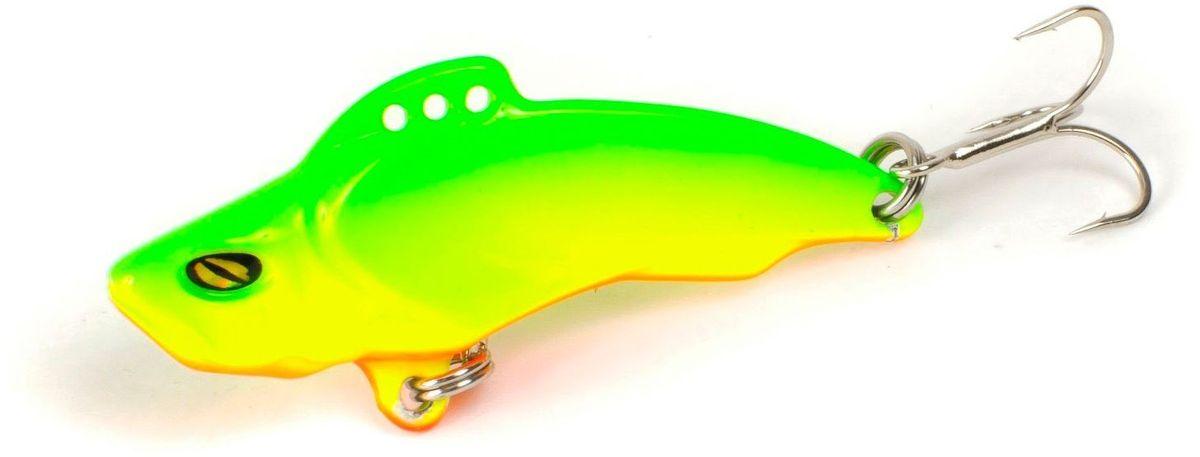 Блесна Yoshi Onyx Yalu Vib Up, цвет: желтый, зеленый, 15 г95767Блесна Yoshi Onyx Yalu Vib Up - это приманка с характерной смещенной вперед развесовкой. Она отлично выдерживает рваный темп рывковых проводок, имитируя беззаботно копошащуюся у дна рыбку. Тщательно рассчитанный баланс приманки позволяет эффективно облавливать участки водоемы с ярко выраженным рельефом.