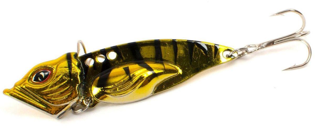 Блесна Yoshi Onyx Yalu Vib Up, цвет: золотой, черный, 21 г