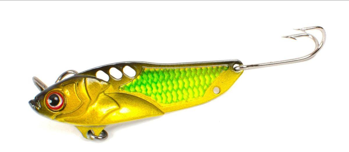 Блесна Yoshi Onyx Yalu Check, цвет: желтый, зеленый, 5 г блесна yoshi onyx yalu vib цвет голубой 7 5 г