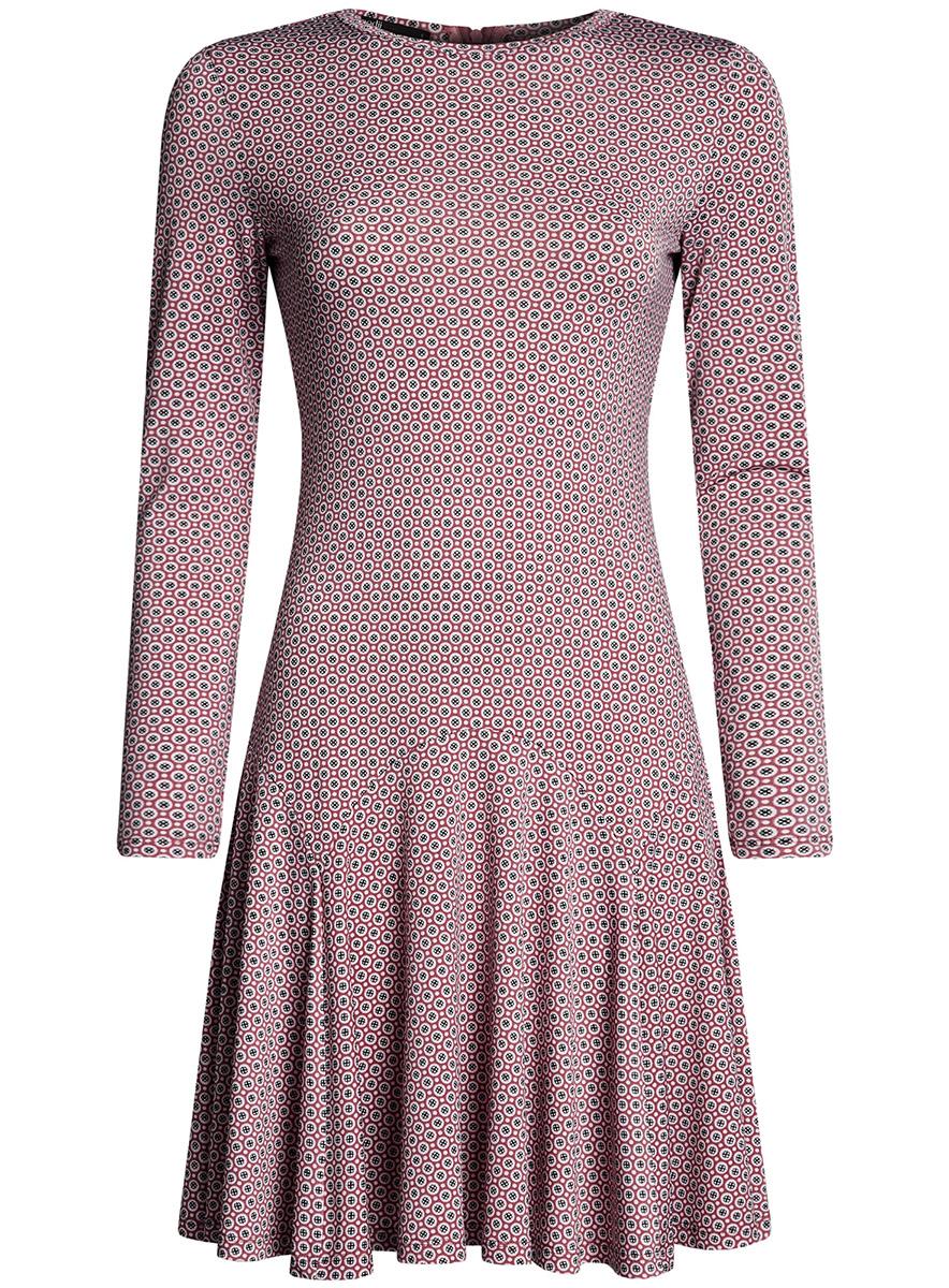 Платье oodji Ultra, цвет: пыльный розовый, светло-розовый. 14011015/46384/4A40G. Размер XL (50-170) платье lavela цвет светло розовый