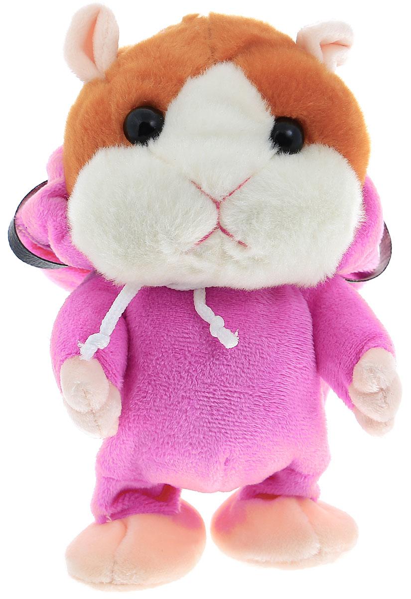 Tongde Интерактивная игрушка Хомячок-повторюшка цвет розовый