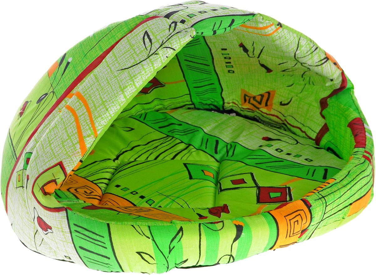 """Лежак для животных Elite Valley """"Лукошко"""", цвет: салатовый, оранжевый, 50 х 42 х 40 см. Л-13/3"""
