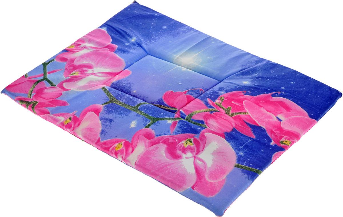 Лежак для животных Elite Valley Матрасик, цвет: синий, розовый, 40 х 55 см. Л-7/4 сумка переноска для животных elite valley конфетки 40 х 25 х 27 см