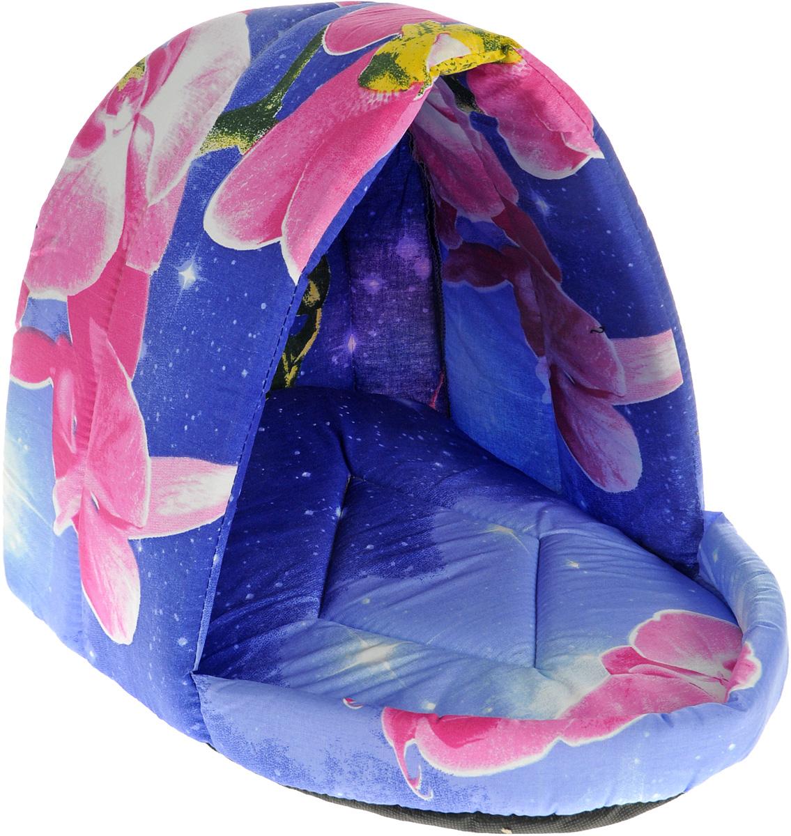 Лежак для животных Elite Valley Люлька, цвет: синий, розовый, 44 х 35 х 35 см. Л-11/3 лежак для животных elite valley пуфик цвет синий розовый зеленый 90 х 70 х 18 см л 4 5